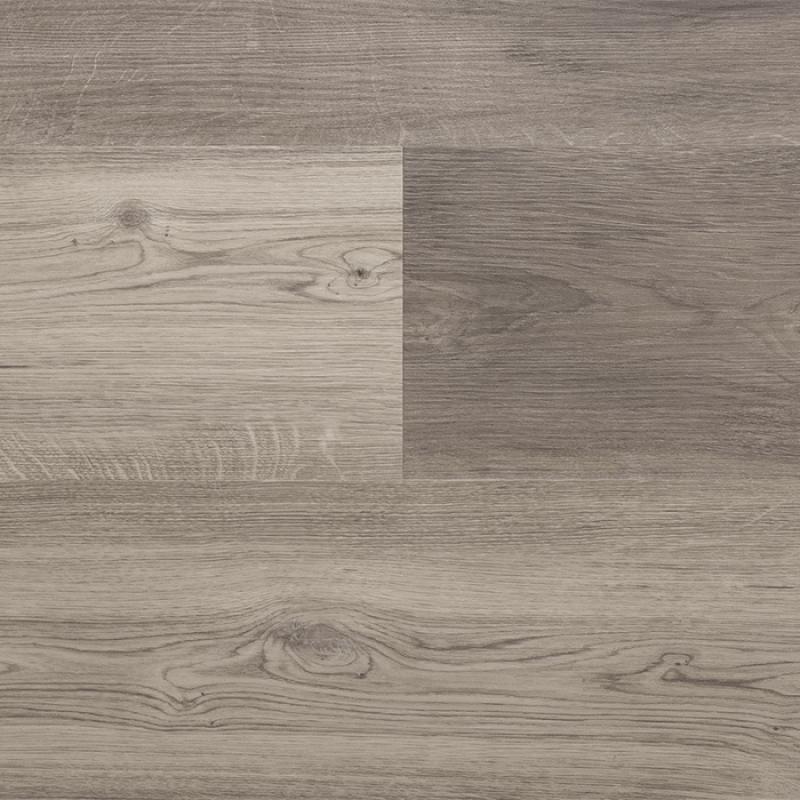 Een bruine pvc vloer vermengd met grijze tinten