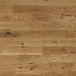 Een caramel kleurige pvc vloer die ook als band kan worden gebruikt