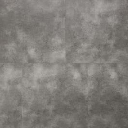 Een moderne donker grijze pvc tegel