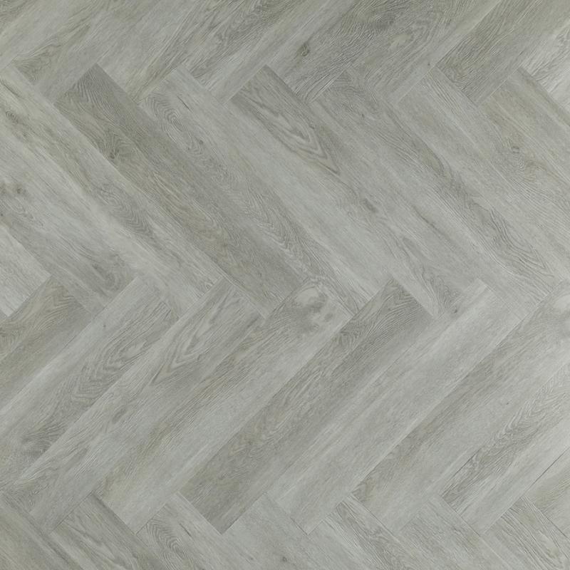 Een mooie grijze pvc visgraat vloer
